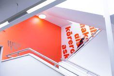 Massey University – Library Wayfinding Stairwell