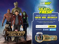SUBWAY Enter the Galaxy of Fresh Instant Win Sweepstakes