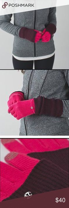 Lululemon Convertible Gloves Like new Convertible Gloves. Here's the long and the short of it: Convertible gloves rule. Wear this pair of gloves long for extra coverage or fold and cuff for an even warmer layered coverage. Soft Merino wool is naturally breathable & insulating to help keep your hands warm. Tech-Friendly fingers📲 lululemon athletica Accessories Gloves & Mittens