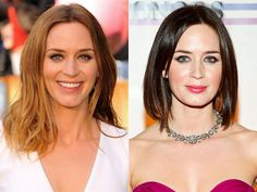 Fashion trends, style tips, hair ideas and all things beauty for style inspiration Hair Color And Cut, Cool Hair Color, Celebrity Hair Colors, Celebrity Style, Celebrity Hairstyles, Cool Hairstyles, Blonde Vs Brunette, Blunt Hair, Emily Blunt