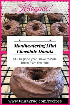 Easy Keto Recipe - chocolate mini donuts! Simply amazing! | Keto diet | Ketogenic Diet | www.trinakrug.com/recipes