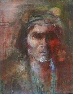 Hopi Man 60 x 40 cm Mixed Media