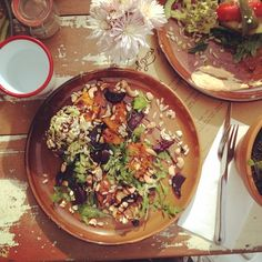 """Instagrammers themerrymakersisters said they were dreaming of lunch again at Local Press Cafe. """"Delish pumpkin and roast beetroot salad. Definitely has our merrymaker tick of approval! #impressed"""""""