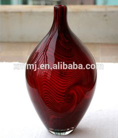 murano vase Large Glass Vase, Murano Glass Vase, Glass Chandelier, Creative Arts And Crafts, Shapes, Unique, Handmade, Decor, Hand Made