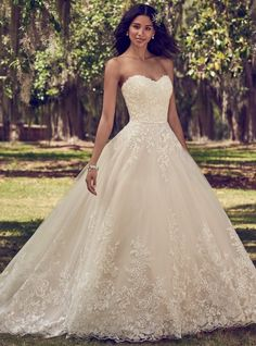 Featured Ball Gown Wedding Dress: Maggie Sottero; www.maggiesottero.com