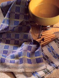 Traditional Monks Belt Kitchen Towels. Choose to weave two different Scandinavian designs with these 100% cotton kitchen towels. Super-absorbant and oh, so beautiful!
