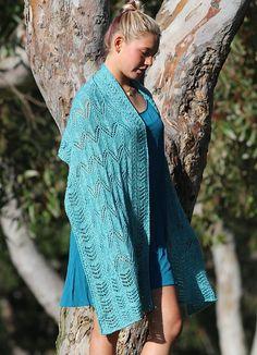 Ravelry: Katori Cable Lace Shawl pattern by Linda Lehman