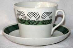 Gefle - Alladin AU-2 tekopp Swedish Design, Vintage Pottery, Porcelain Ceramics, Retro, Sweden, China, Mugs, Tableware, Creative