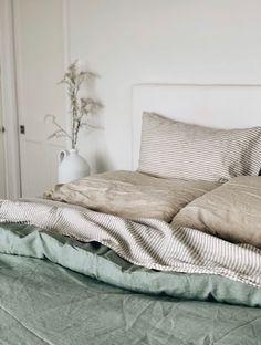 Sage Green Sheets Set – Foxtrot Home Sage Green Bedroom, Earthy Bedroom, Green Bedding, Green Rooms, Aesthetic Bedroom, Bedroom Inspo, Linen Bedroom, Bedroom Decor, Green Bedroom Design
