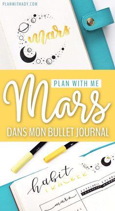 Plan With Ady - Plan with me : le mois de mars dans mon bullet journal