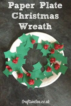 Paper Plate Christmas Wreath - Crafts on Sea