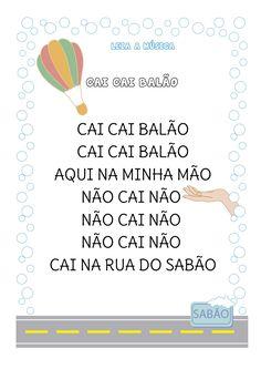 Atividade com música - Cai cai balão
