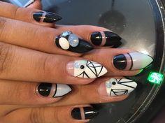 Black and blue by anelax - Nail Art Gallery nailartgallery.nailsmag.com by Nails Magazine www.nailsmag.com #nailart