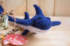 Felted shark  Needle Felted shark Ornament shark by WooolyWool
