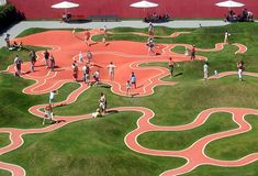 Playscape installation from the 2005 BUGA national garden festival in Munich, with high-contrast paths like ant trails. I couldn't find any information on the designer. Any help? UPDATE: Many thanks to reader Anna for providing the name of the designer: Prof. Rainer Schmidt . photos from hn. via flickr, and ratsateit via flickr Related posts: - Read the rest...