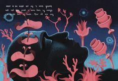 Hardcover book including narrative illustrations for W.G Louw's poem, 'Adam'. Illustration Design Graphique, Creative Illustration, Illustration Art, Illustrations, Pretoria, Graphic Design Art, Layout Design, Graffiti, Poems