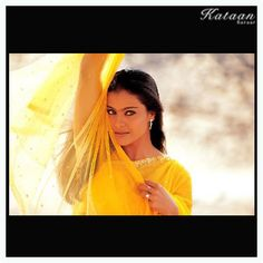 #Kajol in a transparent hot YELLOW saree