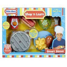 Little Tikes Shop 'N Learn Dinner Toddler Christmas Gifts, Toddler Boy Gifts, Toddler Toys, Christmas Toys, Kids Toys, Christmas Ideas, Play Food Set, Little Tikes, Building For Kids