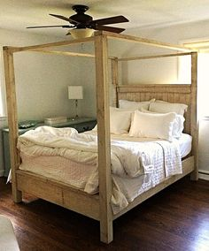 find this pin and more on post college living - 4 Post Bed Frame