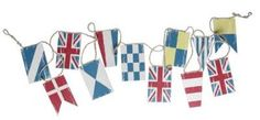Stylish Collection of Bunting, Flags and Swags with American Flag, Union Jack and 2 Sided Designs featuring Both. Nautical Bunting, Boat Flags, House By The Sea, House 2, Nautical Fashion, Nautical Style, Christmas Bunting, Union Jack, Beach Themes