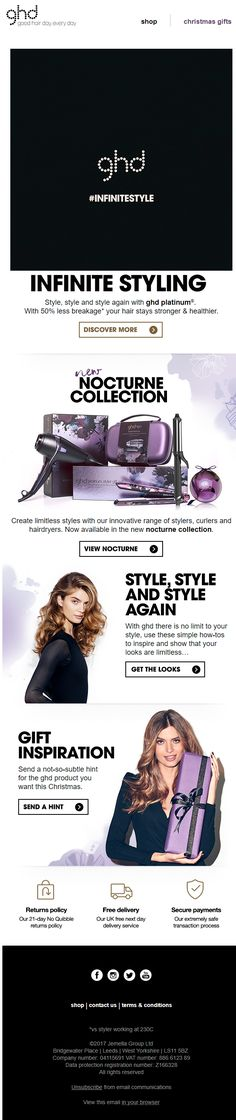 Good use of GIFs in tthis email from GHD