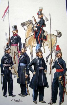 Russie, Troupes cosaques 1812