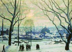 Konstantin Fiodorovitch Iouon - Утро индустриальной Москвы / Le matin de Moscou l'industrielle, 1949