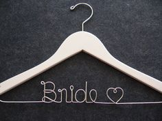 WHITE Wedding Dress Hanger  by LynnClaire on Etsy, $33.00
