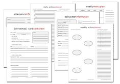 15 New FREE Home Management Printables