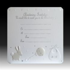 White Rabbit Christening Invitations  Pk 10 * Learn more by visiting the image link.(This is an Amazon affiliate link and I receive a commission for the sales)