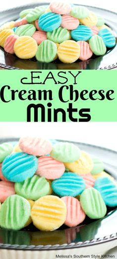 These irresistable Easy Cream Cheese Mints are made with 4 simple ingredients. Christmas Baking, Holiday Baking, Christmas Treats, Christmas Mints Recipe, Christmas Goodies, Christmas Candy, Cream Cheese Mints, Cream Cheese Recipes, Cream Cheeses