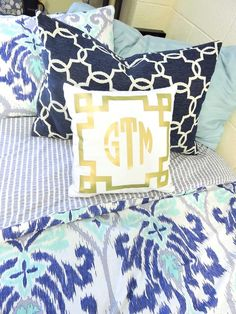 Navy and monogram