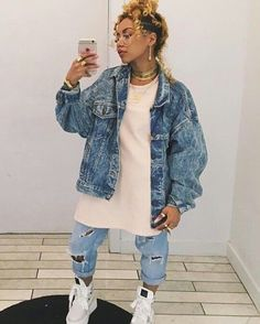 Tatys outfit to dress fitting Tomboy Fashion, Tomboy Outfits, Chill Outfits, Black Girl Fashion, Dope Outfits, Fashion Killa, 90s Fashion, Streetwear Fashion, Trendy Outfits