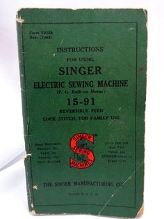 Singer Sewing Machines 15-91 Instruction Booklet from 1941 by Allyssecondattic on Etsy