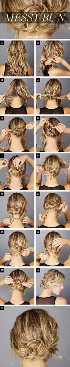 HOW TO DO A PERFECT MESSY BUN