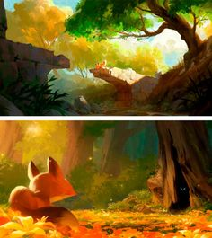 Someone blogged these paintings of mine awhile ago, thought I'd consolidate a bit! theartofanimation:  Helen Chen