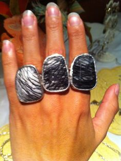 Abstract Ring!  Did you know that even though it's the same ring the stones can vary so much!   It's my favorite new ring!! :)