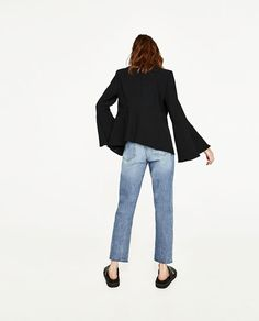 Image 5 of BELL SLEEVE JACKET from Zara