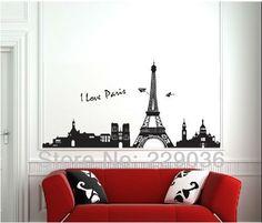 Paris Effiel Tower Removable Wall Sticker.