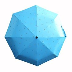 JK Safety Portable Safety Reflective High Visibility Three Folding Rain Umbrella Windproof Travel Umbrella Summer UV Protection Sun Shade Umbrella for Women and Man Sky Blue L >>> Check this awesome product by going to the link at the image.
