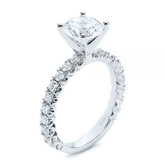 This dazzling engagement ring features a round brilliant cut diamond in a four-prong white gold setting perched atop a narrow white gold band. Designed and created by Joseph Jewelry Design Your Own Engagement Rings, Gold Engagement Rings, Destination Weddings, Gold Bands, White Gold Rings, Diamond Cuts, Babe, Jewelry, Products
