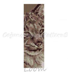 LYNX  LoomBeaded Cuff Bracelet Pattern  by CajunsDesignPatternS, $6.50