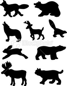 north american animal silhouettes