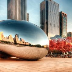 CLOUD GATE SCULPTURE // #thebean #bean #cloudgate #sculpture #chicago #chite... | Webstagram piechotka