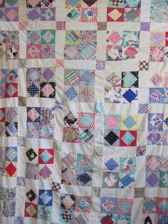 1930's Feedsack quilt