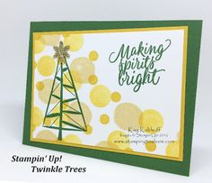 Stamping to Share: Do Bokeh with Stampin' Up! Twinkle Trees - Includes How To…