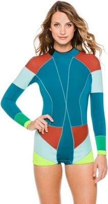 Cynthia Rowley Colorblock Wetsuit Teal Combo 2015