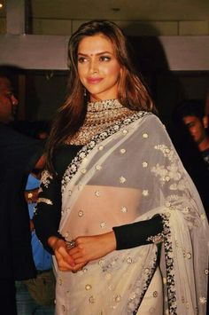 Deepika Padukone Saree Look :)