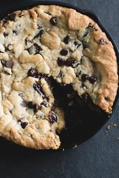 chocolate chip skillet cookie!