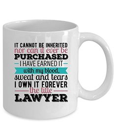 Lawyer Coffee Mug 11 oz. Lawyer gift... if and when! Hint hint!